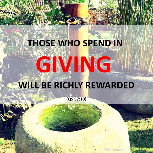 Those who spend in GIVING will be richly rewarded